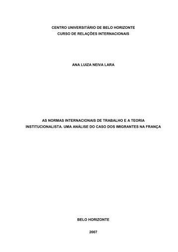 Ana Luiza Neiva - As Normas Internacionais de Trabalho e a Teoria ...