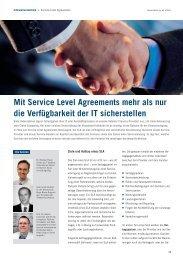 Mit Service Level Agreements mehr als nur die Verfügbarkeit der IT ...