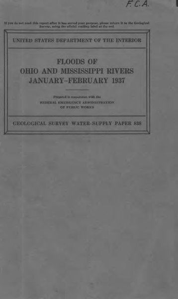 floods of ohio and mississd7pi rivers january-february 1937