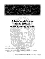 A Collection of Curricula for the STARLAB Greek Mythology Cylinder