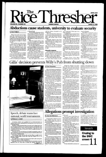 Abductions cause students, university to evaluate security Gillis ...