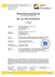 Klassifizierung des Brandverhaltens nach DIN EN 13501 ... - Homapal