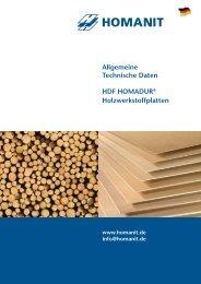 HDF HOMADUR® Holzwerkstoffplatten - Homanit Werk