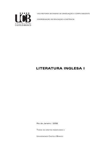 LITERATURA INGLESA I - Universidade Castelo Branco