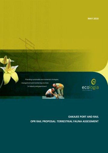 Appendix 2a - Vertebrate Fauna Assessment - Oakajee Port & Rail