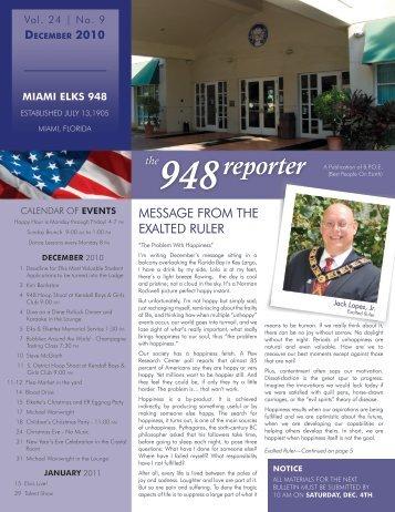 Dec - Miami Elks Lodge 948