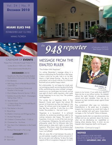 Dec - Miami Elks Lodge 948