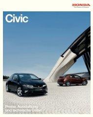 Preisliste Civic (PDF, 3,51 MB)