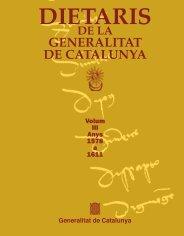Anys 1578-1611 - Generalitat de Catalunya
