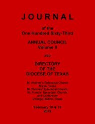 Download Journal - Episcopal Diocese of Texas