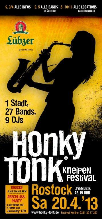 Faltblatt/Heft zum Festival - Honky Tonk