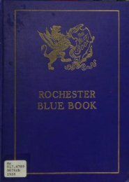 Rochester Blue Book 1928 - Monroe County Library System