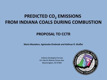 Predicted CO2 Emissions from Indiana Coals During Combustion