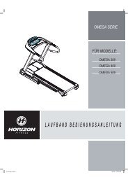 Bedienungsanleitung Omega Serie - Horizon Fitness
