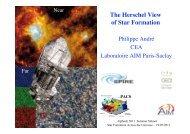 The Herschel View of Star Formation - Summer School Alpbach 2013
