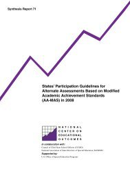 States' Participation Guidelines for Alternate Assessments Based on ...
