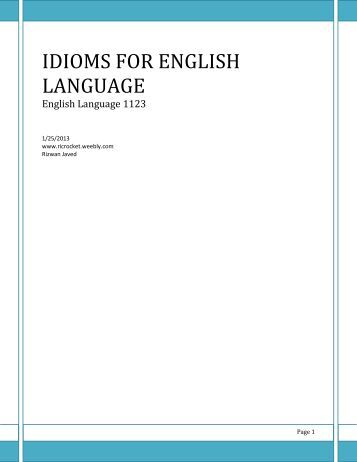 understanding english idioms and expressions auto design