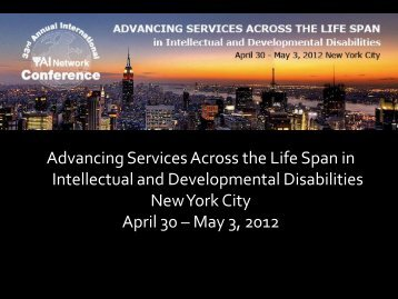 Advancing Services Across the Life Span in Intellectual - Queens ...