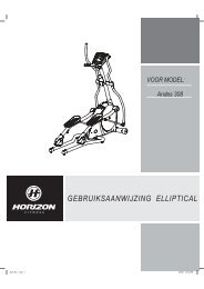 GEBRUIKSAANWIJZING ELLIPTICAL - Horizon Fitness