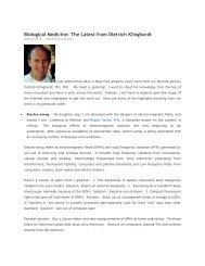Biological Medicine: The Latest from Dietrich Klinghardt