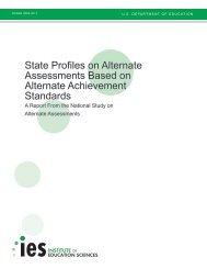 State Profiles on Alternate Assessments Based ... - SRI International