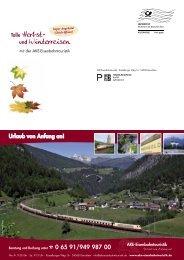 Mailing August 2011 - AKE Eisenbahntouristik