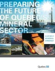 Québec mineral strategy - Ministère des Ressources naturelles ...