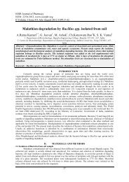 Malathion degradation by Bacillus spp. isolated from soil - IOSRPHR