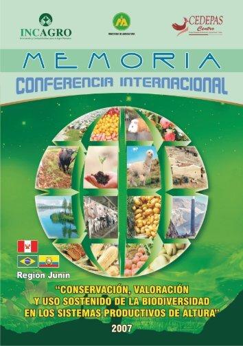 Memoria Conferencia Internacional Biodiversidad - Cedepas Centro