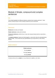 NLS Simple, compound and complex sentences - Czone