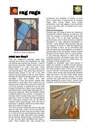 printable factsheet: rag rugs - Low-Impact Living Initiative