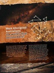 the world's first astronomers? Were Aboriginal Australians
