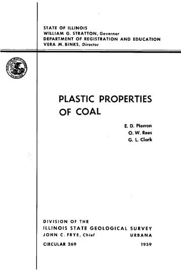 plastic properties of coal - University of Illinois at Urbana-Champaign