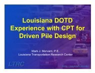 Louisiana DOTD Experience with CPT for Driven Pile Design