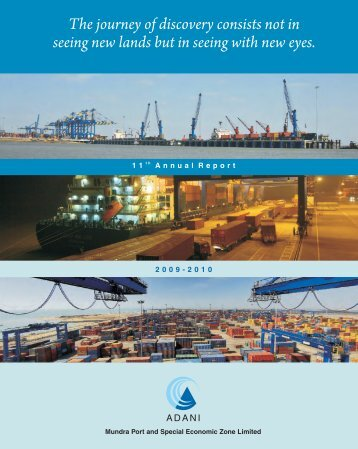 Annual Report for the year, 2009-2010 - Mundra Port
