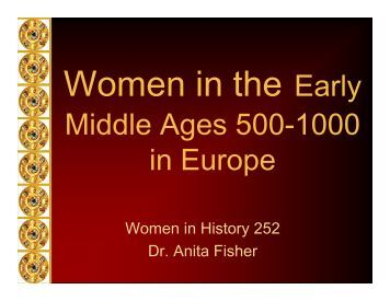 Middle Ages 500-1000 in Europe - Anita Fisher