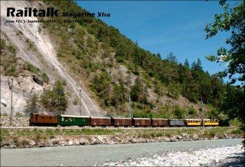 Issue 72x | September 2012 | ISSN 1756 - 5030 - Railtalk