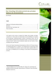 Der freiwillige Schuldenschnitt des privaten ... - 1 PLUS i GmbH