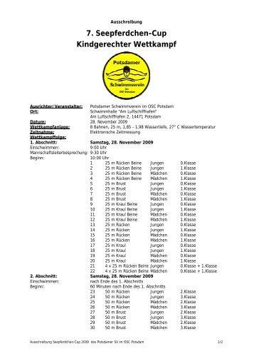 7. Seepferdchen-Cup Kindgerechter Wettkampf - 1. Potsdamer ...