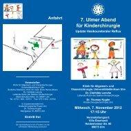 Programm - Universitätsklinikum Ulm
