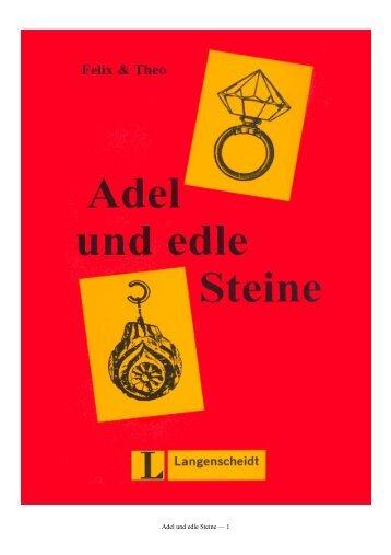 Adel und edle Steine — 1