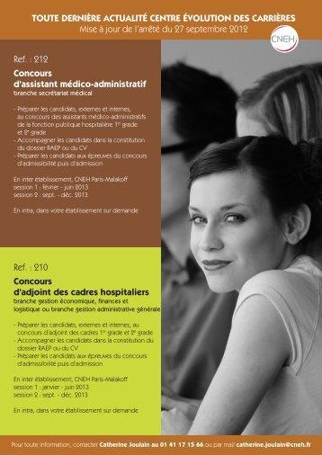 Préparation aux concours d'adjoint des cadres hospitaliers - CNEH