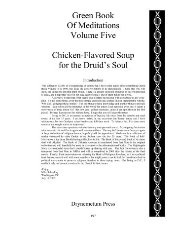 Green Book Of Meditations Volume Five Chicken-Flavored Soup for ...