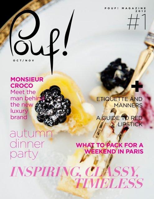 inspiring, classy, timeless - Pouf! Magazine