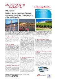 Dijon – Saint-Léger-sur-Dheune Pommard – Gevrey Chambertin ...