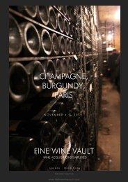 FINE WINE VAULT CHAMPAGNE, BURGUNDY, PARIS