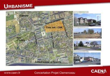urbanisme : projet Clémenceau CONCERTATION - Ville de Caen