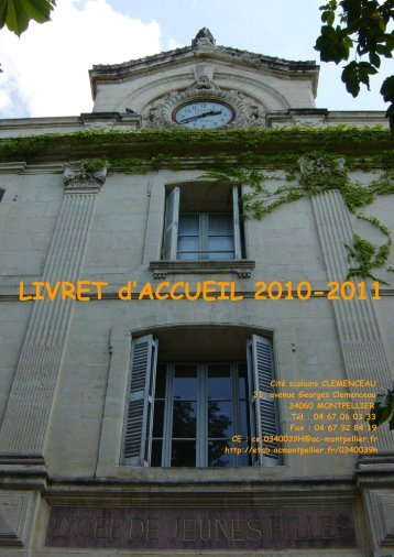 LIVRET d'ACCUEIL 2010-2011 - Cité Scolaire G. Clemenceau