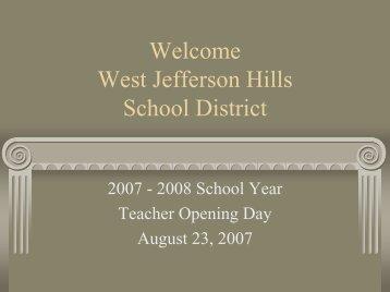 Welcome West Jefferson Hills School District - West Jefferson Hills SD