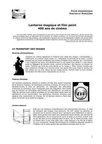 Fiche pédagogique à télécharger - La Cinémathèque française